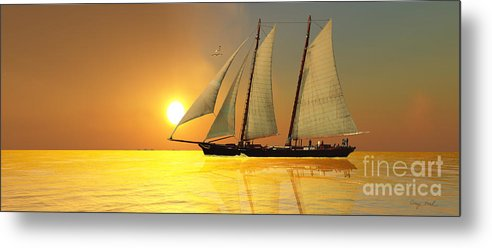 Sailing Metal Print featuring the painting Light Of Life by Corey Ford