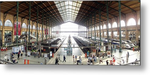 Paris Metal Print featuring the photograph Paris Train Station by Al Blackford