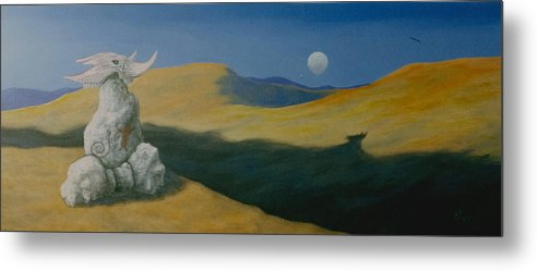 Native Metal Print featuring the painting Spirit Land by Arnold Isbister