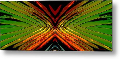 Abstract Metal Print featuring the digital art Split - Abstract by Michelle Wiarda-Constantine