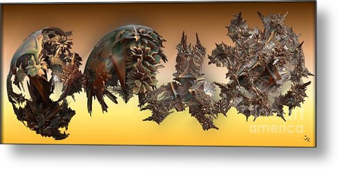Fractal Metal Print featuring the digital art Theme Variation 2-opposing Ideas by Ron Bissett