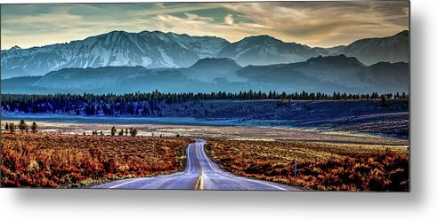 White Peak Mountains Metal Print featuring the photograph View From A Windy Road by Az Jackson