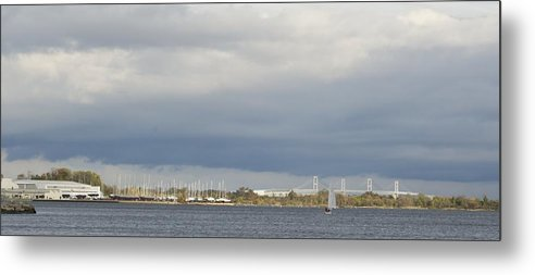 Chesapeake Bay Bridge Metal Print featuring the photograph looking East by Christie Wilson