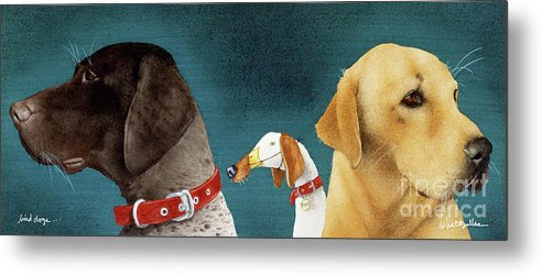 Will Bullas Metal Print featuring the painting Bird Dogs... by Will Bullas