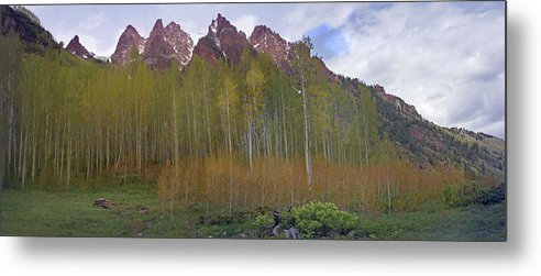 Mountain Metal Print featuring the photograph Buckskin Mtn And Friends by Heather Coen