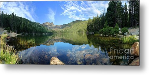 Nature Metal Print featuring the photograph Calmness Speaks by Su Thao