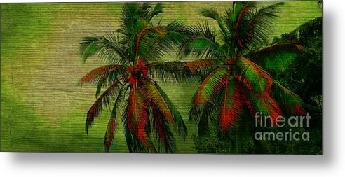 Palm Metal Print featuring the photograph Green Palms by Perry Webster