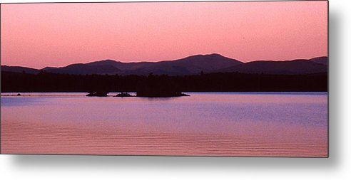 Panorama Metal Print featuring the photograph Panorama-predawn Lake Umbagog by Roger Soule