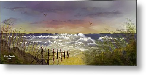 Seascape Metal Print featuring the digital art Seacape One by Harry Dusenberg