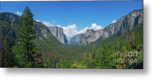 Yosemite Valley Metal Print featuring the photograph Tunnel View Panorama by Michael Ver Sprill
