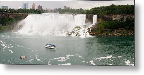 3scape Metal Print featuring the photograph American Falls by Adam Romanowicz
