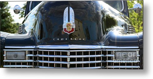 1941 Cadillac Metal Print featuring the photograph 1941 Cadillac Grill by Paul Ward