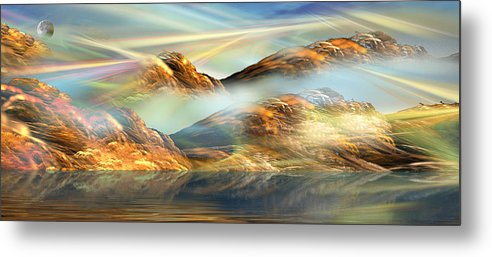Phil Sadler Metal Print featuring the digital art And The Light Shines On And On And On... by Phil Sadler