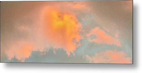 A Natural Cloud Which Appears To Show A Tiger Or Lions' Profile. Metal Print featuring the photograph Cloud 777 J P by Robin Coaker