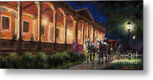 Pastel Metal Print featuring the painting Germany Baden-baden 13 by Yuriy Shevchuk