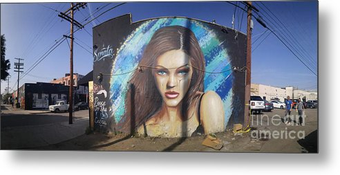 Graffiti Metal Print featuring the photograph Graffiti Street Art Mural Around Melrose Avenue In Los Angeles, California by Konstantin Sutyagin