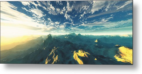 Mountains Metal Print featuring the digital art Heavens Breath 16 by The Art of Marsha Charlebois