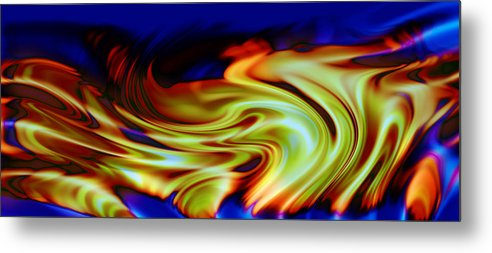 Abstract Metal Print featuring the digital art Hot Wheels by Evelyn Patrick