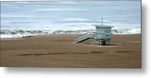 Beach Metal Print featuring the photograph Life Guard Stand - Color by Shari Chavira