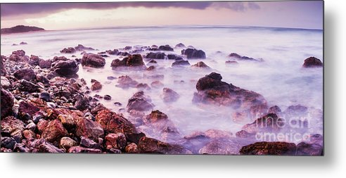 Coastline Metal Print featuring the photograph Misty Bay by Jorgo Photography - Wall Art Gallery