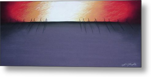 Metal Print featuring the pastel The Beginning Of The End II by Chris Mackie