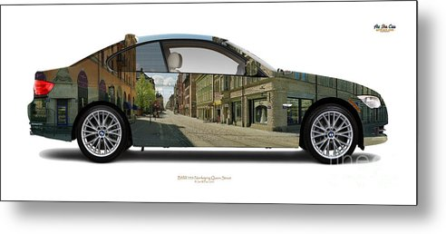 Travel Metal Print featuring the photograph Bmw 335i Queen Street by Art Faul