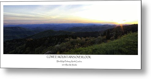Cowee Mountains Overlook Metal Print featuring the photograph Cowee Mountains Overlook by Ben Shields