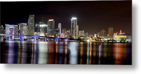Miami Metal Print featuring the photograph Miami - Florida by Brendan Reals