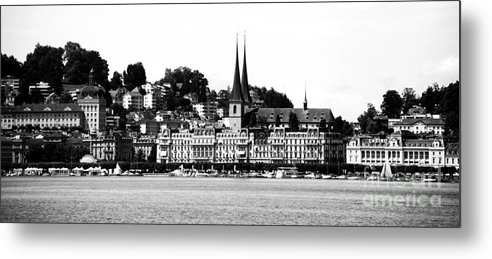 Lucerne Metal Print featuring the photograph Lucerne In Monochrome by Pravine Chester