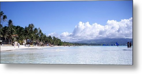 Metal Print featuring the photograph White Sand Beach1 by Cristie Rieland