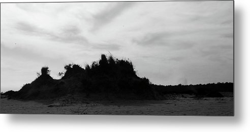 Silhouette Metal Print featuring the photograph Dunes by Elizabeth Green