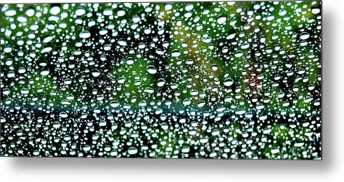 Water Metal Print featuring the photograph Raindrops by Carl Hall