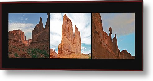 Arches Metal Print featuring the photograph Arches National Park Panel by SC Heffner