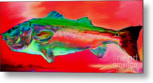 Red Drum. Spot Tail Metal Print featuring the painting Red Drum by Everett White