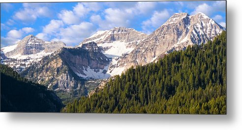 Scenery Metal Print featuring the photograph Mt. Timpanogos In The Wasatch Mountains Of Utah by Utah Images