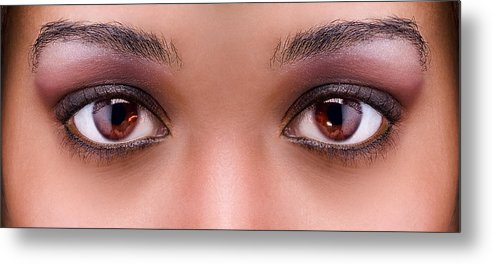Eyes Metal Print featuring the photograph Stunning Eyes by Val Black Russian Tourchin