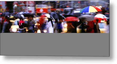 Wet Metal Print featuring the photograph Umbrellas by Brad Rickerby