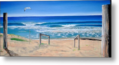 Beach Metal Print featuring the painting A Perfect Day by Tania Kay