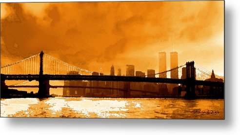 Twin Towers Metal Print featuring the photograph Majestic Skyline by Ron Regalado