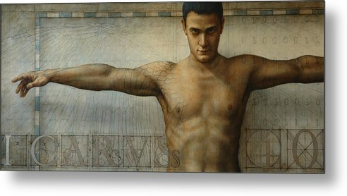 Icarus Metal Print featuring the painting Icarus 4.0 by Jose Luis Munoz Luque