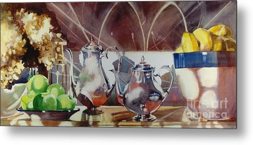 Still Life Metal Print featuring the painting May I Have This Dance by Elizabeth Carr