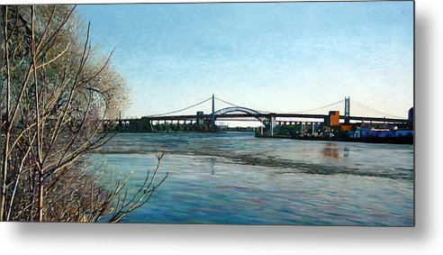 River Metal Print featuring the painting Hell's Gate by Randy Ford