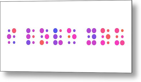 I Love You Metal Print featuring the digital art I Love You - Braille by Michael Tompsett
