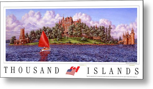 Thousand Islands Metal Print featuring the print Boldt's Castle Poster by Richard De Wolfe