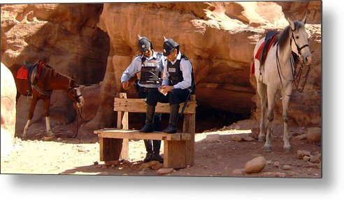 Police Metal Print featuring the photograph Petra Pd by Larry Underwood