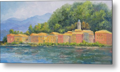 Italy Metal Print featuring the painting Bellagio - Pearl Of Lake Como by Bunny Oliver