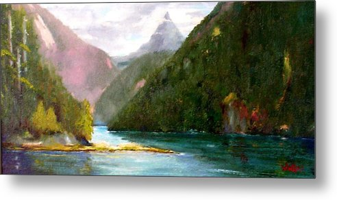 Vancouver Island Metal Print featuring the painting Head Bay - Vancouver Island by David Sullins