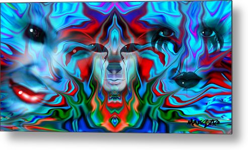 Abstract Art Metal Print featuring the drawing Color Plague My Mind by Maestro Ruiz