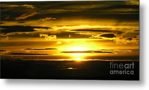 Sunset Metal Print featuring the photograph Alaskan Sunset by Louise Magno