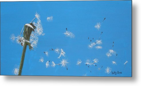 Weeds Metal Print featuring the painting Beautiful At This Moment.... by Betty-Anne McDonald